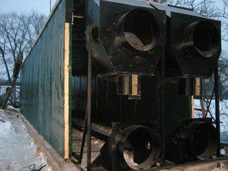 Воздуховоды-смесители камеры для сушки дров